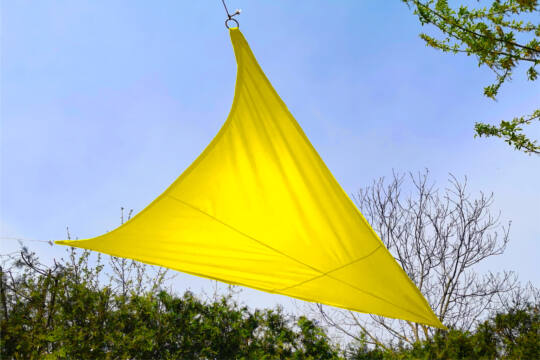 Sárga napvitorla 3,2*3,2*2,6m háromszög