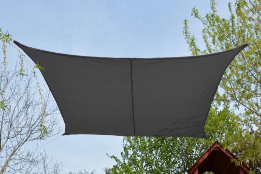 Szürke napvitorla 2,6*2,6m négyszög