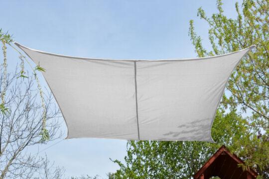 Fehér napvitorla 2,6*2,6m négyszög