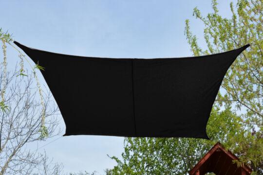 Fekete napvitorla 2,6*2,6m négyszög