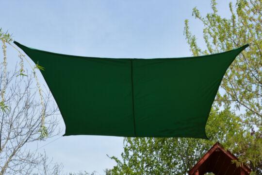 Fenyőzöld napvitorla 2,6*2,6m négyszög