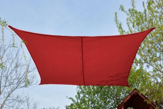 Piros napvitorla 2,6*2,6m négyszög