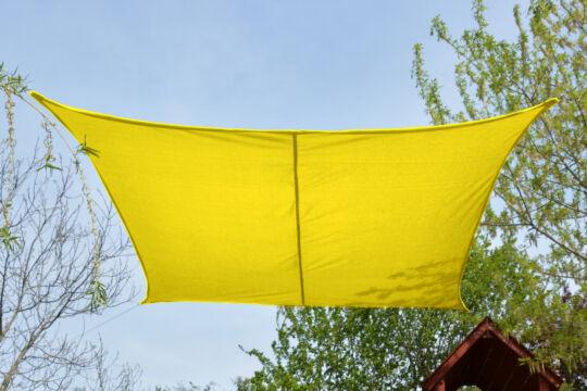 Sárga napvitorla 2,6*2,6m négyszög