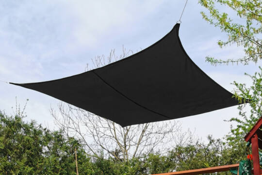 Fekete napvitorla 4*4m négyszög