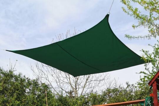 Fenyőzöld napvitorla 4*4m négyszög