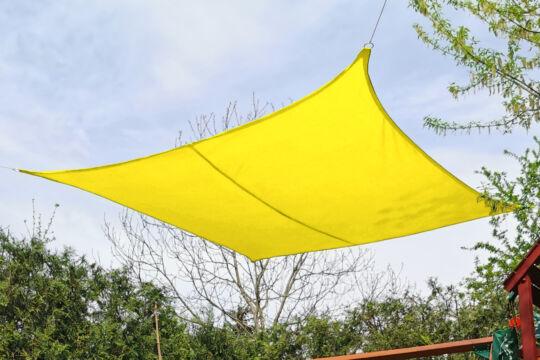 Sárga napvitorla 4*4m négyszög