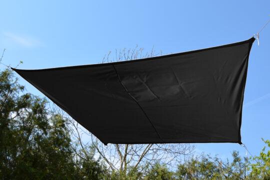 Fekete napvitorla 2,9*1,9*1,6*1,6 m trapéz