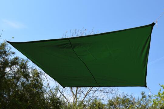 Fenyőzöld napvitorla 2,9*1,9*1,6*1,6 m trapéz