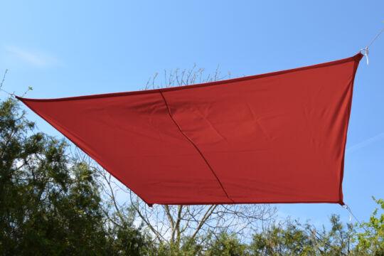 Piros napvitorla 2,9*1,9*1,6*1,6 m trapéz