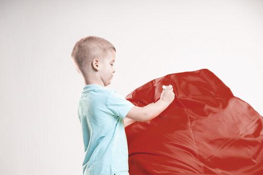 Piros gyerekbarát babzsákfotel