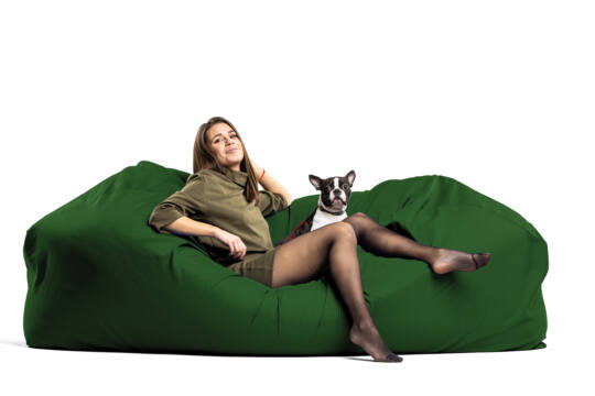 Fenyőzöld Relax babzsák kanapé