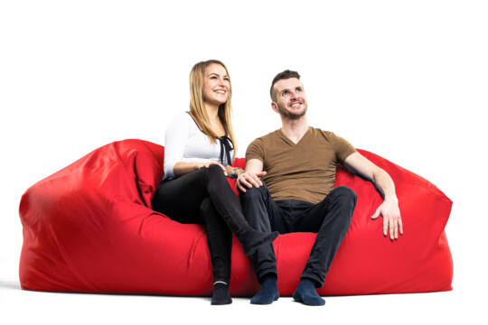 Piros Relax babzsák kanapé