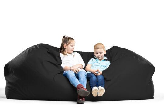 Fekete Relax babzsák kanapé