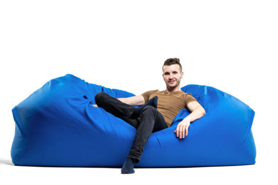 Királykék Relax babzsák kanapé