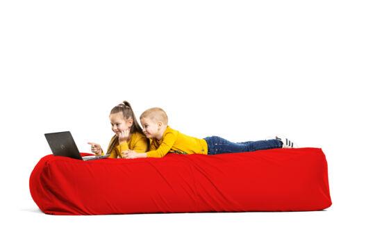 Piros Komfort babzsák ágy