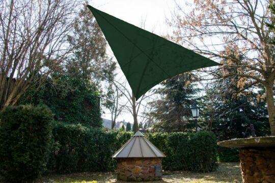 Fenyőzöld napvitorla 3,2*3,2*2,6m háromszög