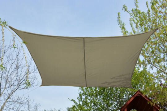 Drapp napvitorla 2,6*2,6m négyszög
