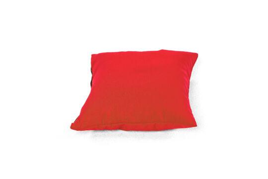Piros babzsák párna