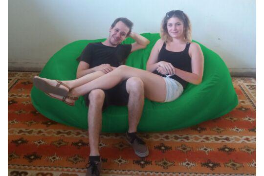 Zászlózöld Relax babzsák kanapé