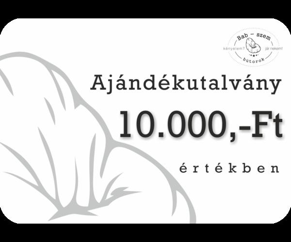 10000 Ft értékű Ajándékutalvány