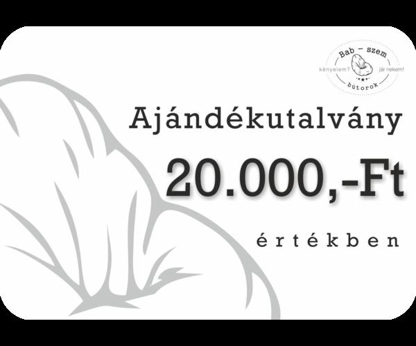20000 Ft értékű Ajándékutalvány