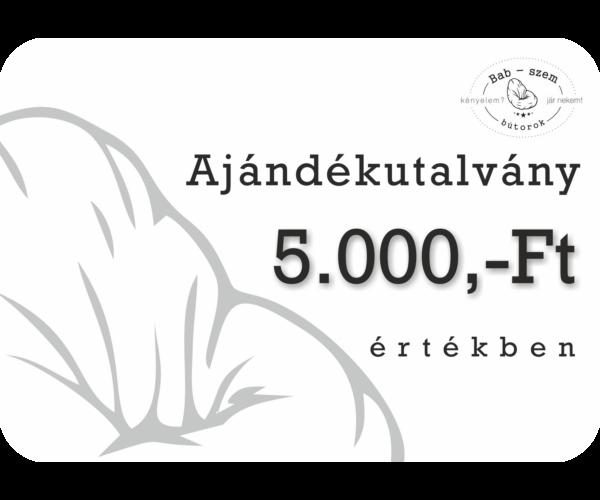 5000 Ft értékű Ajándékutalvány