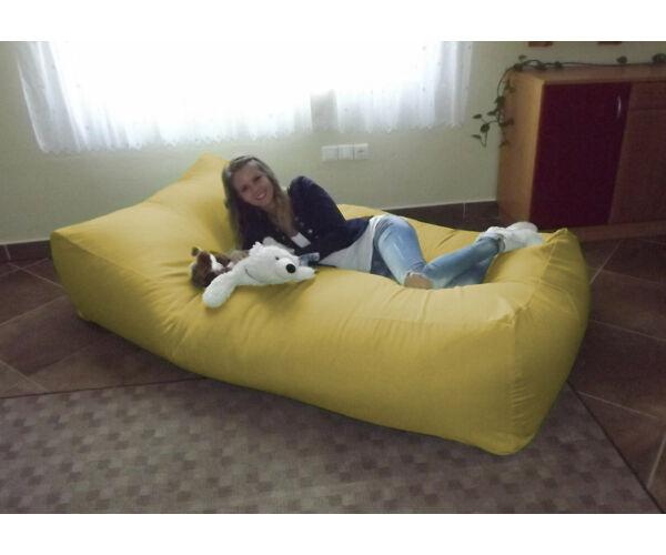 Sárga Komfort babzsák ágy