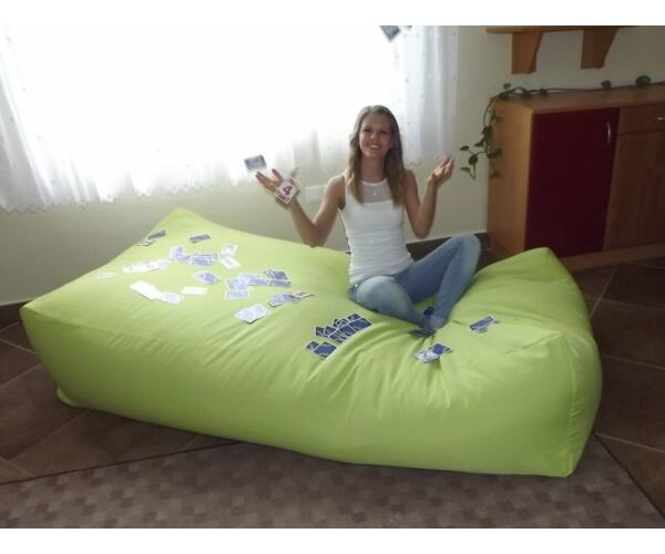 Fűzöld Komfort babzsák ágy