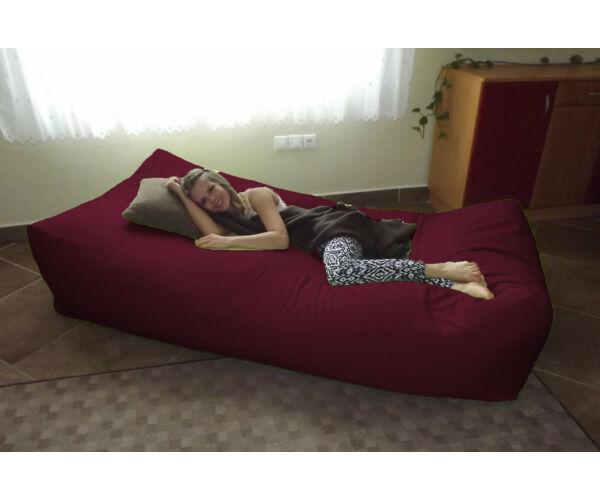 Bordó Komfort babzsák ágy