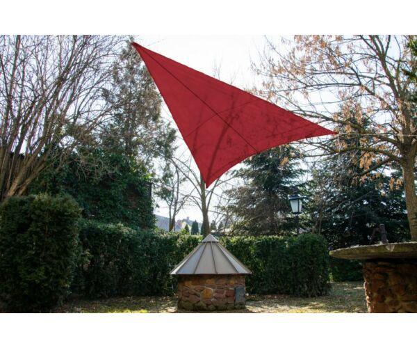 Piros napvitorla 3,2*3,2*2,6m háromszög