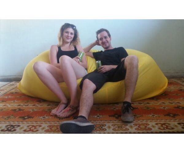 Sárga Relax babzsák kanapé
