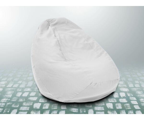 Fehér XXL szövet babzsákfotel
